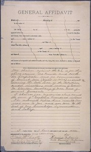 Harriet Tubman, affidavit pension claim