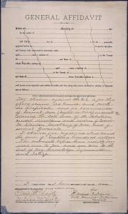 Harriet Tubman, affidavit pension claim