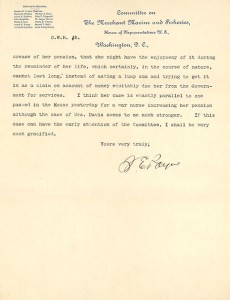 Letter from Sereno Payne Harriet Tubman compensation2